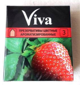 Презервативы Viva с запахом клубники