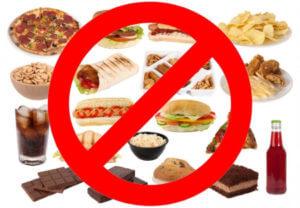 Отказ от вредных продуктов при похудении после ок