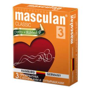 Презервативы с пупырышками masculan classic dotty