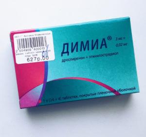 Противозачаточные таблетки Димиа от прыщей